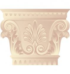 corinthian capital vector image