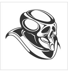 Cyborg - robot skull vector