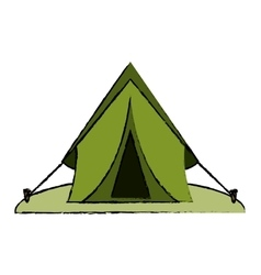 drawing tent equipment camping activities vector image