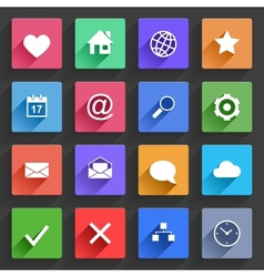 Flat application icons set vector