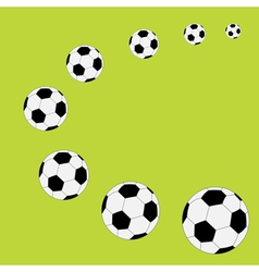 Football soccer ball frame flat design style vector