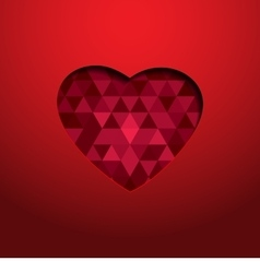 geometric heart vector image vector image