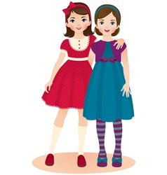 Girls friends vector image vector image