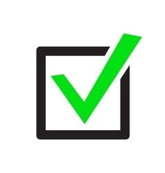 Green check marks icons vector