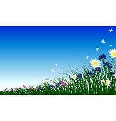 Meadow color background vector image vector image