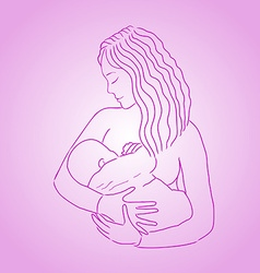 Mother breast feeding vector