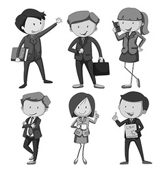 People with different occupations vector image vector image