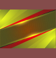 red and yellow geometric and light abstract vector image vector image