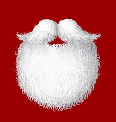 santa s beard vector image vector image