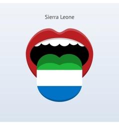 Sierra leone language abstract human tongue vector