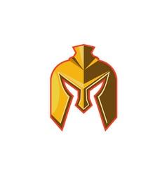 Spartan Helmet Retro vector image vector image