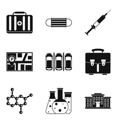 Therapeutic icons set simple style vector