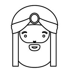 Wiseman cartoon of happy epiphany day design vector