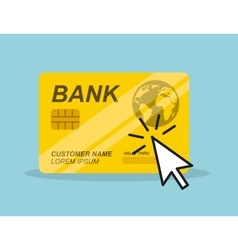 Credit card and mouse cursor vector