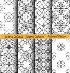 Backgrounds floral forged patterns vector