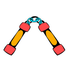 Nunchaku weapon icon icon cartoon vector