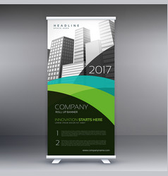Abstract roll up banner template vector