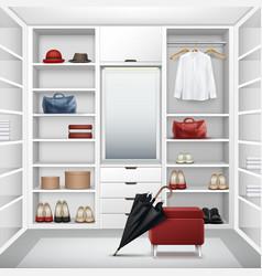 cloakroom closet vector image