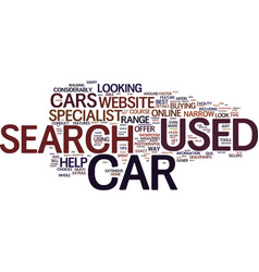 Your used cars search is quicker when conducted vector