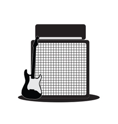 Guitar and half-stack vector