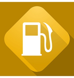Icon of fuel indicator with a long shadow vector