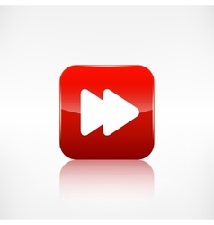 Forward or skip icon media player vector