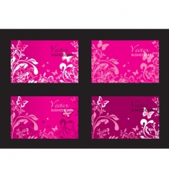 floral pink cards vector image
