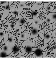 Seamless halloween pattern with spiderweb in vector