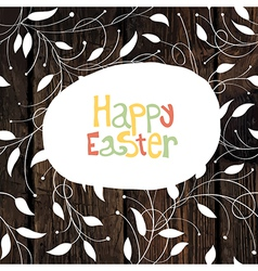 Easter card with leaf pattern vector