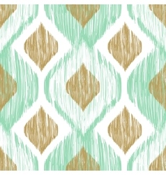 Seamless pattern ikat ethnic background in vector