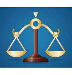 Balance law and justice vector