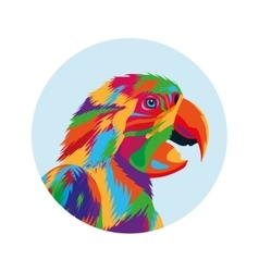 Parrot bird icon animal and art design vector