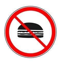 Do not eat sign vector