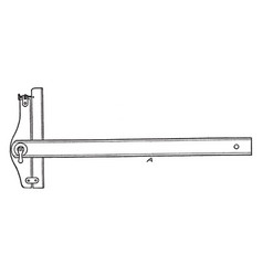 Adjustable head t-square with ruler cross member vector