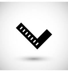 Angle ruler icon vector image