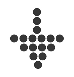 Arrow down with dots design in black and white vector image vector image