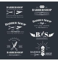 Barbershop design elements vector image