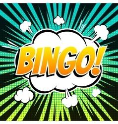Bingo comic book bubble text retro style vector