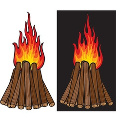 Bonfire Icon Set vector image