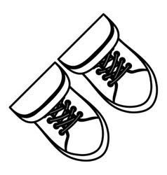 Classic sneakers footwear vector image