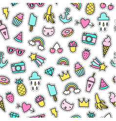 Cute objects seamless pattern vector
