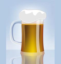 excellent glass of beer vector image