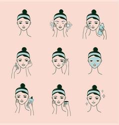 Facial procedures banner vector