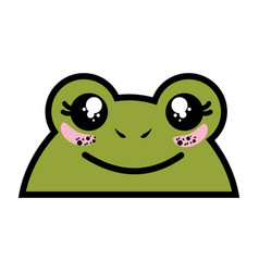 isolated cute toad face vector image