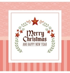 Merry christmas and happy new year design vector