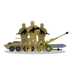 Modern armed forces types flat concept vector