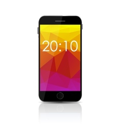 New Realistic Mobile Phone With Colorful Screen vector image