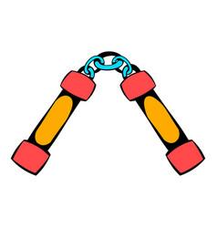 Nunchaku weapon icon icon cartoon vector