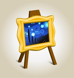 Picture icon on easel vector image
