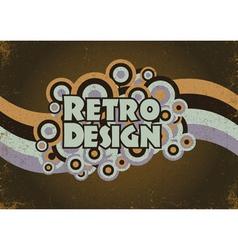retro poster vector image vector image